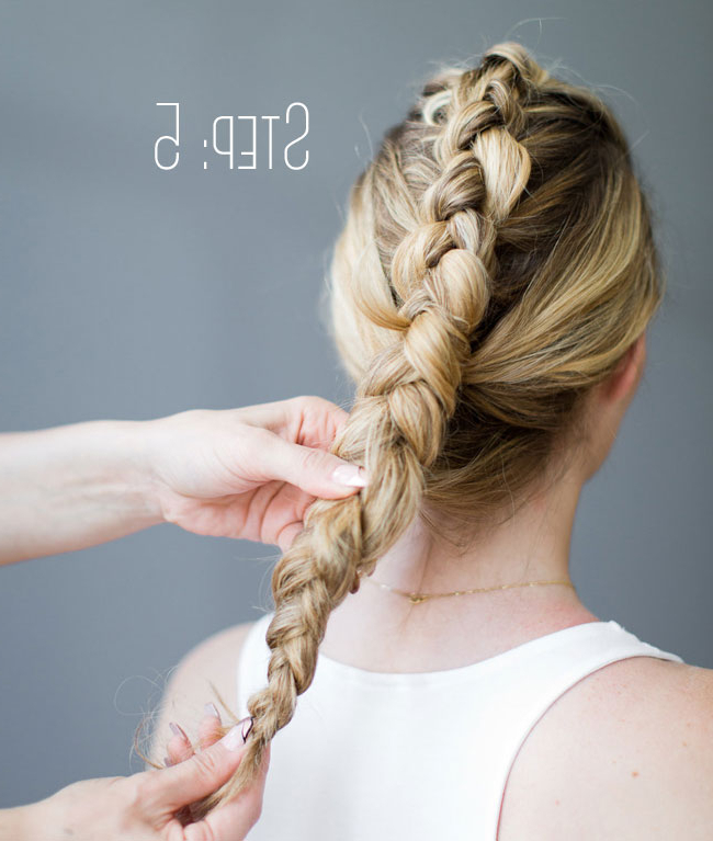 How To Do A Fauxhawk Braid – Beautyeden Di Bianco Within French Braid Pinup Faux Hawk Hairstyles (View 23 of 25)