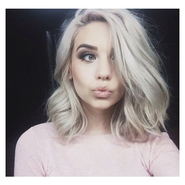 How To Get Platinum Blonde Hair Hair And Other Musings ? Liked On Pertaining To Most Up To Date Platinum Layered Side Part Hairstyles (View 16 of 25)