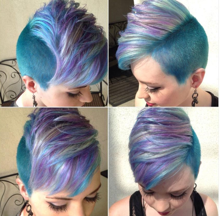How To: Lavender, Mint & Blue Faux Hawk Inspiredp!nk – Career With Regard To Pink Pixie Princess Faux Hawk Hairstyles (View 2 of 25)