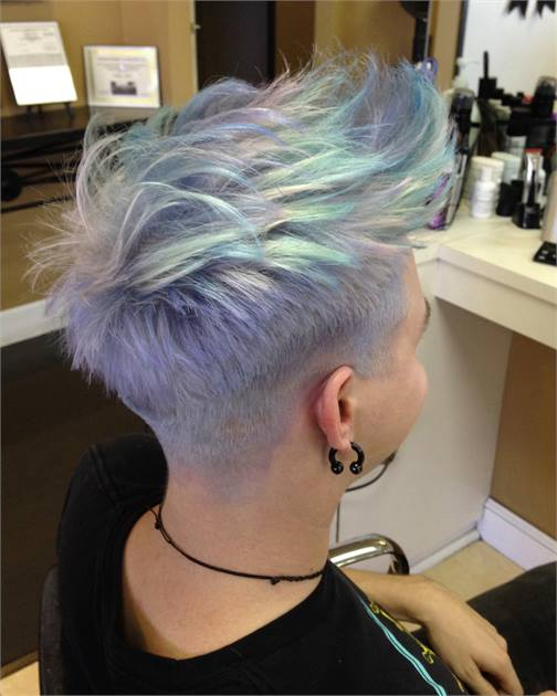 How To: Opalescence – Opal Haircolor Trending Now – Hair Color With Regard To Lavender Ombre Mohawk Hairstyles (View 22 of 25)