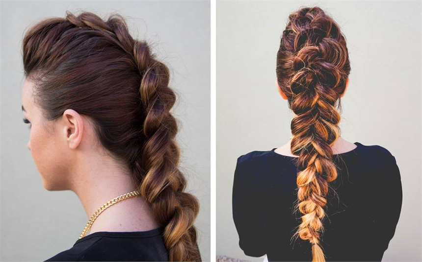 How To: The Dutch Faux Hawk – Hairstyling & Updos – Modern Salon Regarding Unique Updo Faux Hawk Hairstyles (View 21 of 25)