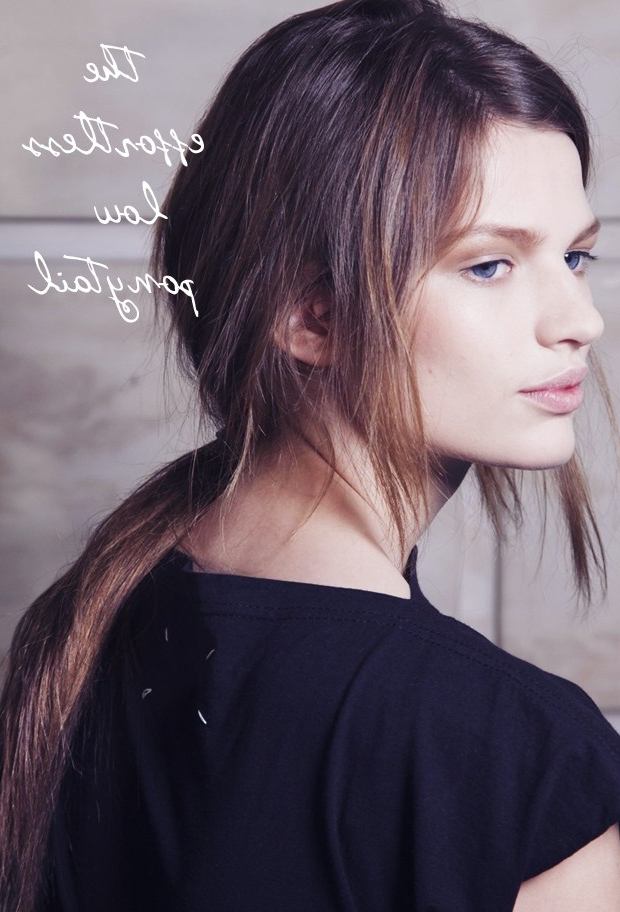 How To: The Effortless, Textured Low Pony – Fashionising Inside Most Up To Date Effortlessly Tousled Hairstyles (View 16 of 25)
