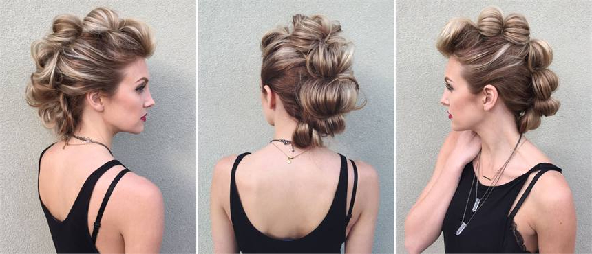 How To: Topsy Tail Looped Faux Hawk – Hairstyling & Updos – Modern Salon With Regard To Unique Updo Faux Hawk Hairstyles (View 6 of 25)