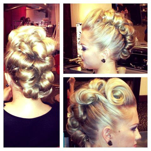 I Am So Happy My Sister Is Not A Master Hairstylist! She Is A Kind Throughout Retro Pop Can Updo Faux Hawk Hairstyles (View 14 of 25)