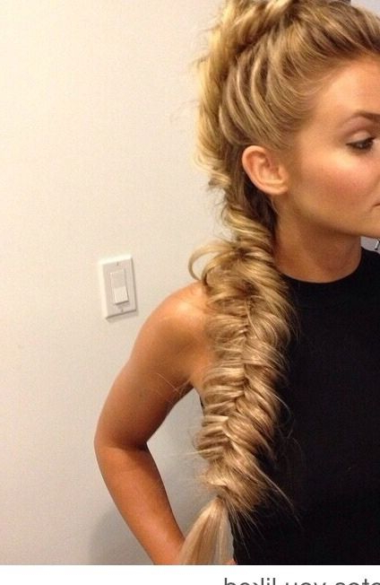 I Have Curly Hair, So I'd Have To Straighten My Hair Before Even In Messy Fishtail Faux Hawk Hairstyles (View 22 of 25)