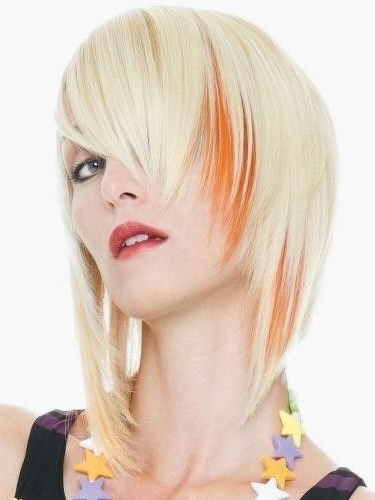 I Like The Orange | Sally | Pinterest | Hair Coloring With Regard To Spiky Mohawk Hairstyles With Pink Peekaboo Streaks (View 17 of 25)