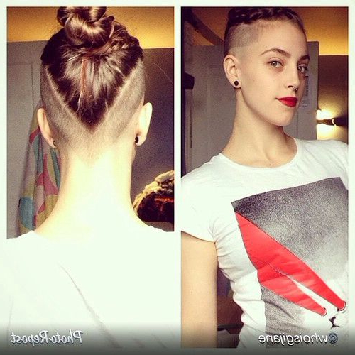 I Like The Way It's Cut | Hair | Pinterest | Hair, Hair Cuts And Throughout Mohawk Hairstyles With An Undershave For Girls (View 16 of 25)