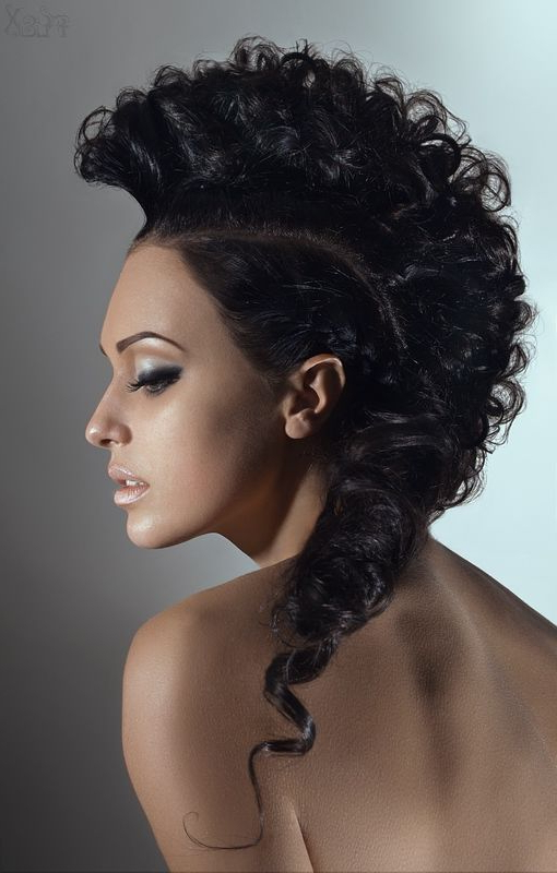 I Wouldnt Do This To My Hair But Since I Want To Work In The Beauty Within Work Of Art Mohawk Hairstyles (View 8 of 25)