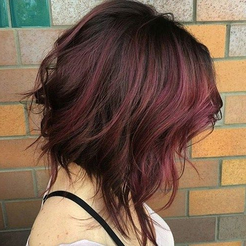 Imagen Relacionada | Peliroja | Pinterest | Bobs, Burgundy Hair And Regarding Newest Burgundy Bob Hairstyles With Long Layers (View 20 of 25)