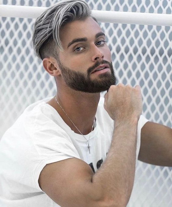 Is The Gray Hair For Men Trend Here To Stay? 21 Photos Of Men With Inside Steel Colored Mohawk Hairstyles (View 25 of 25)