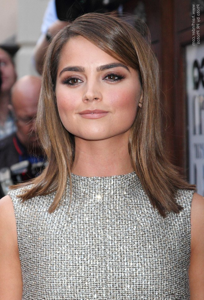 Jenna Coleman's Smooth Shoulder Length Hair With An Outward Flip Regarding Most Up To Date Layered And Flipped Hairstyles For Medium Length Hair (View 21 of 25)