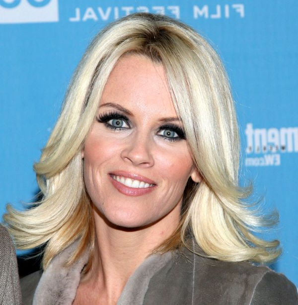 Jenny Mccarthy Medium-Length Hairstyle - Casual, Everyday pertaining to Newest Shoulder Length Haircuts With Flicked Ends