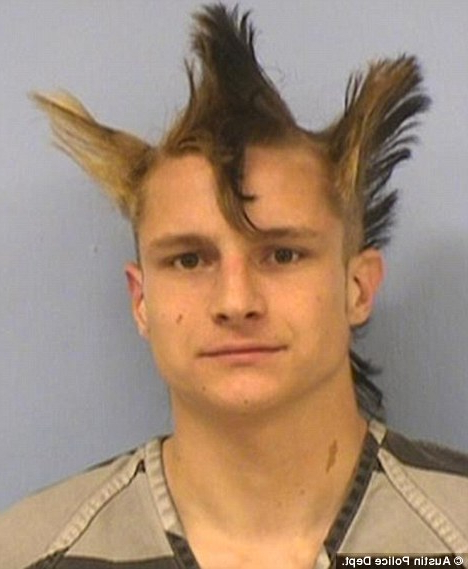 Johnathan Washburn, With Bizarre Triple Mohawk, Arrested For Throughout Hot Pink Fire Mohawk Hairstyles (View 18 of 25)