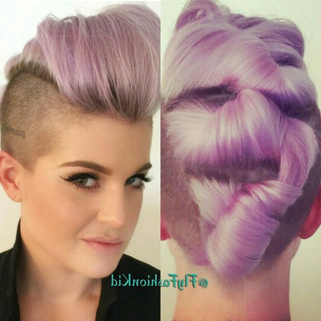 Kelly Osborne Mohawk Pastel Purple Barbarabeauté | Hairrrr In 2018 Intended For Extravagant Purple Mohawk Hairstyles (View 18 of 25)
