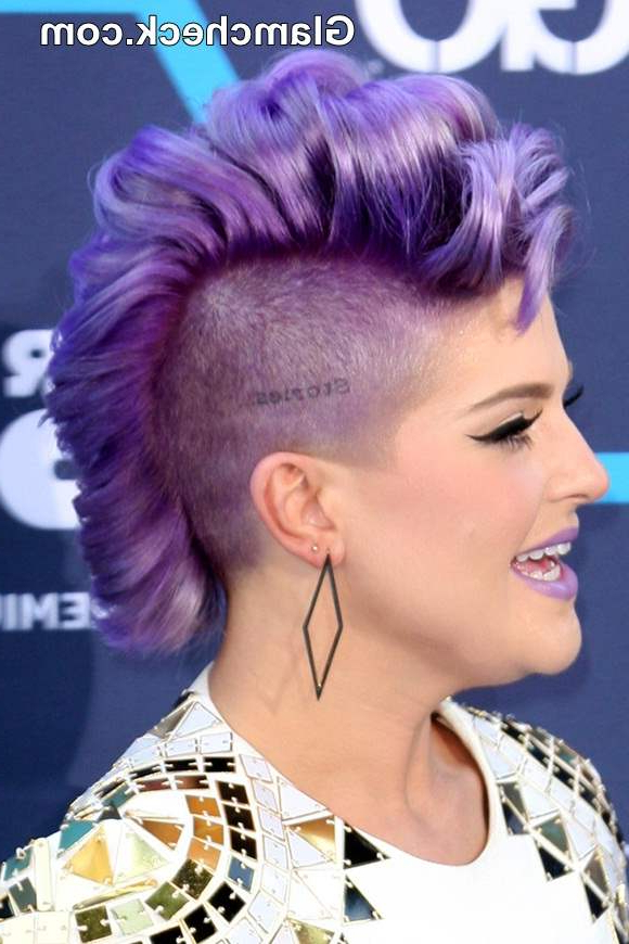 Kelly Osbourne Bright Lilac Mohawk At Young Hollywood Awards 2014 Throughout Lavender Ombre Mohawk Hairstyles (View 5 of 25)