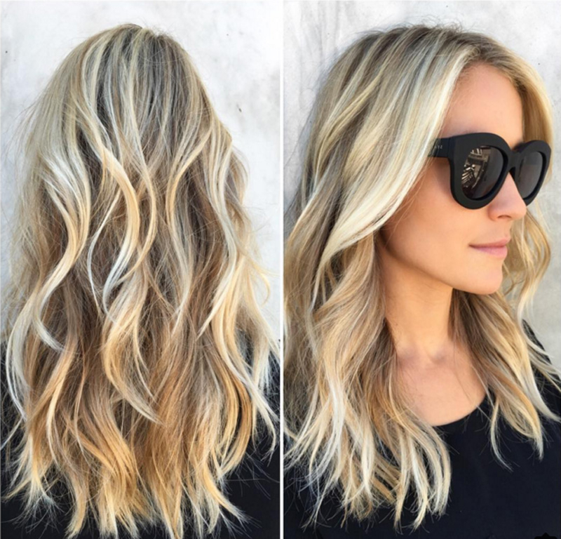 Kristin Cavallari Tells You Exactly How To Get Her Signature Beach With Most Popular Shaggy Lob Hairstyles With Beach Waves (View 18 of 25)