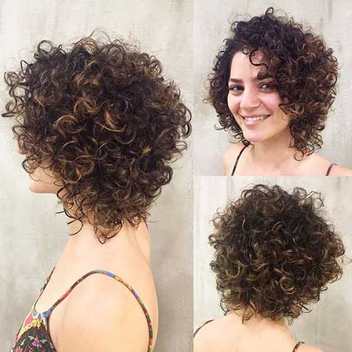 Layered Bob Haircuts For Curly Hair – Leymatson With Newest Curly Layered Bob Hairstyles (View 17 of 25)
