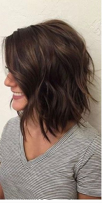 Layered Brunette Lob | Celebrity Hairstyles | Hair, Hair Styles In 2018 Caramel Lob Hairstyles With Delicate Layers (View 21 of 25)