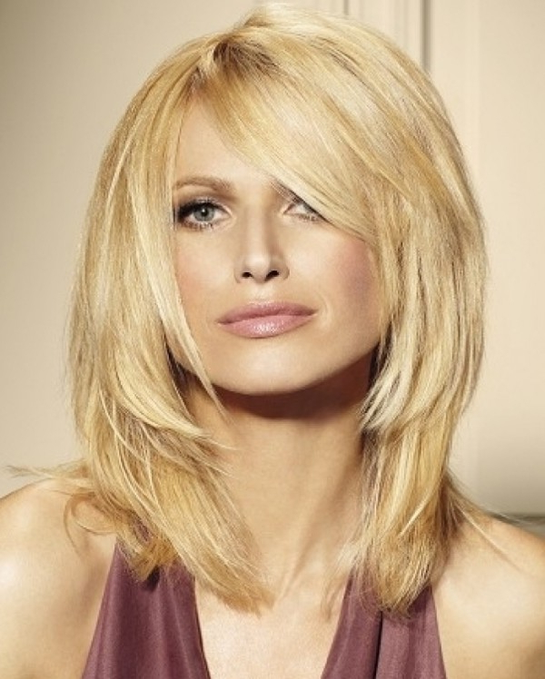 Layered Hairstyles For Thick Hair – Women Hairstyles In Most Recent Mid Length Haircuts With Side Layers (View 8 of 25)