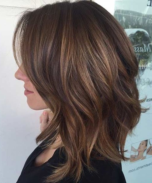 Layered Lob Hairstyles | The Mane Event | Hair, Hair Styles, Hair Cuts Throughout 2018 Caramel Lob Hairstyles With Delicate Layers (View 20 of 25)