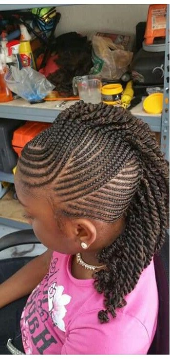 Featured Photo of Small Braids Mohawk Hairstyles