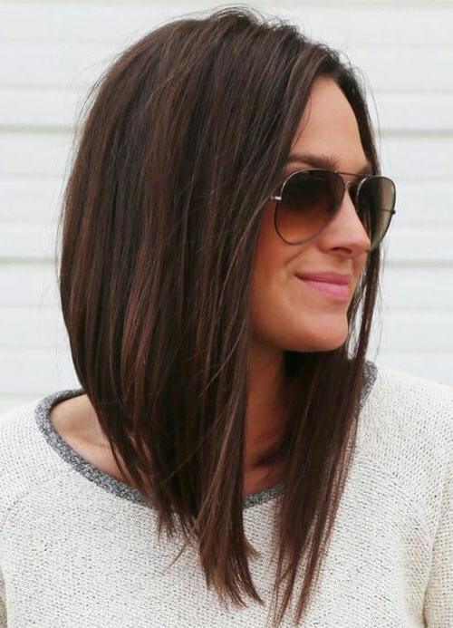 Long A Line | Hair Ideas | Pinterest | Hair, Hair Styles And Bob Within Most Popular Straight Layered Tresses In A Line Hairstyles (View 20 of 25)