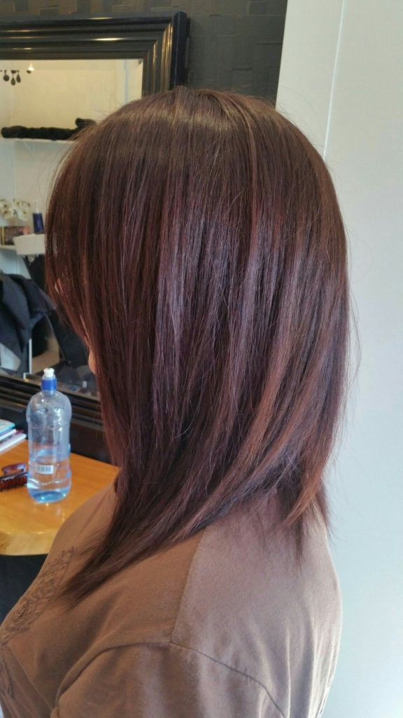 Long Bob Haircuts For Thick Hair Photos A Line Textured Long Bob Pertaining To 2018 Thick Longer Haircuts With Textured Ends (View 7 of 25)