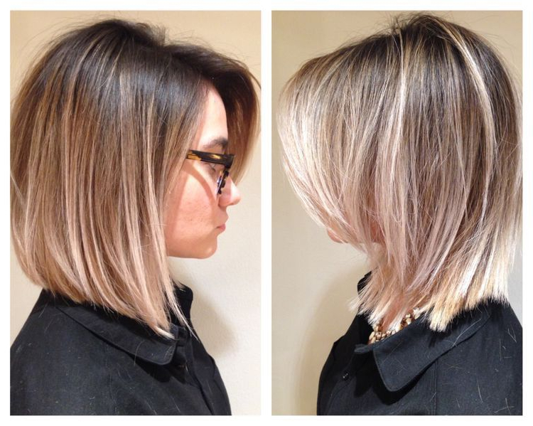 Long Bob With Side Swept Bangs … | Hair | Pinte… Within Latest Flipped Lob Hairstyles With Swoopy Back Swept Layers (View 15 of 25)