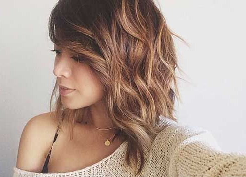 Long Curly Bob With Bangs – Google Search | Hair | Pinterest | Hair With Regard To Best And Newest Long Layers For Messy Lob Hairstyles (View 6 of 25)