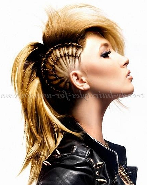 Long Hairstyles (Other) – Mohawk Hairstyle With Side Braid | Trendy Throughout Side Mohawk Hairstyles (View 14 of 25)