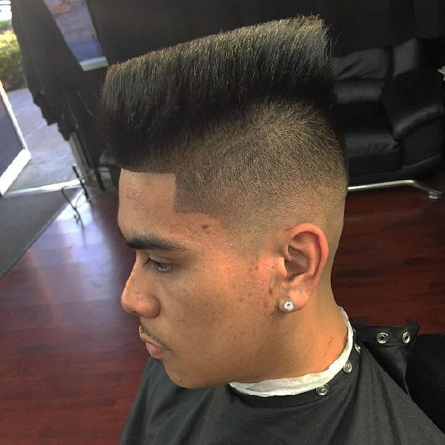 Long On Top Half Fade Mohawk | Hairstyles Ideas | Pinterest | Hair Throughout Voluminous Tapered Hawk Hairstyles (View 3 of 25)