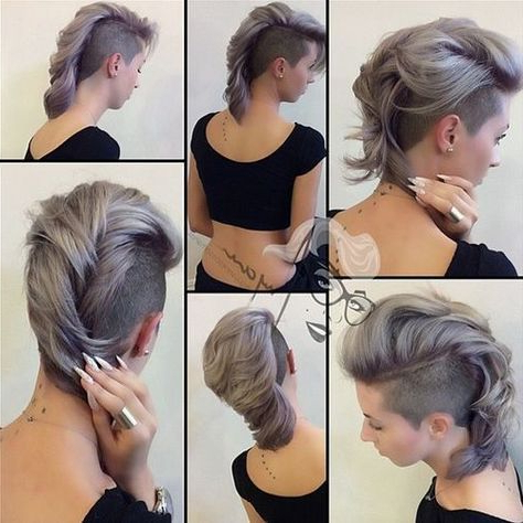 Long+Pastel+Lavender+Mohawk+Hairstyle | Peloo | Pinterest | Mohawk Inside Mohawk Hairstyles With Vibrant Hues (View 18 of 25)