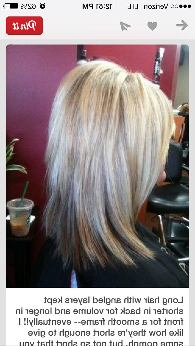 Love The Cut | Hair Styles | Pinterest | Hair, Hair Styles And Hair Cuts With Best And Newest Mid Length Two Tier Haircuts For Thick Hair (View 10 of 25)