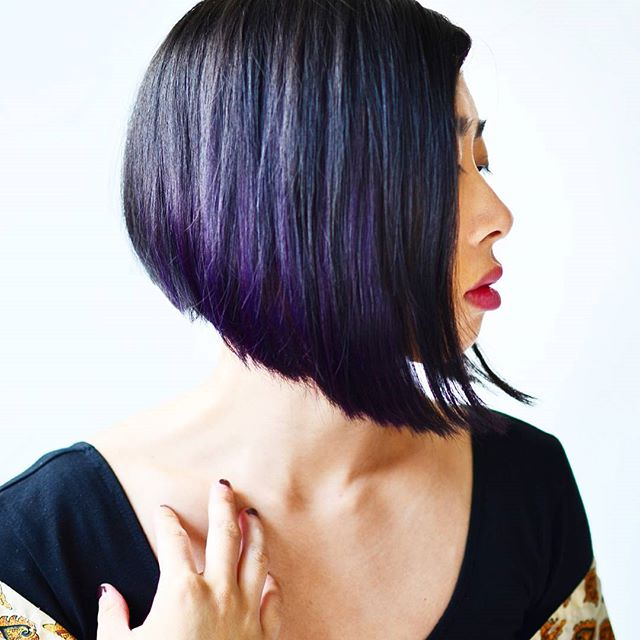 Lovely And Convenient Angled Bob Haircuts – Popular Haircuts In Most Recently Medium Angled Purple Bob Hairstyles (View 20 of 25)
