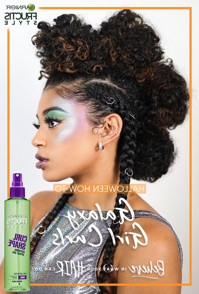 Make The Most Of Big Curls With A Curly Faux Hawk Hairstyle (View 21 of 25)