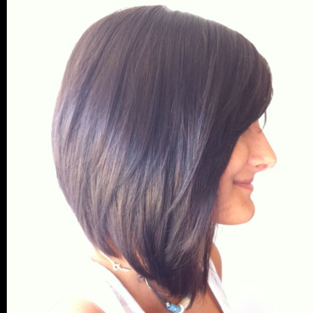 Medium Angled Bob Hairstyles With Bangs Over 40 – Google Search For Most Recent Medium Angled Purple Bob Hairstyles (View 5 of 25)