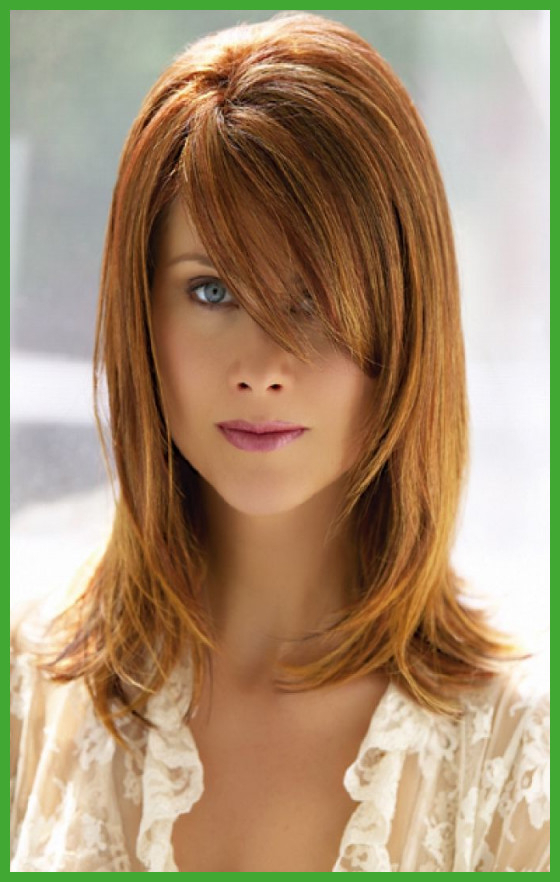 Medium Haircuts With Side Bangs Medium Length Hairstyles With Side Intended For Most Current Shoulder Length Hairstyles With Long Swoopy Layers (View 16 of 25)
