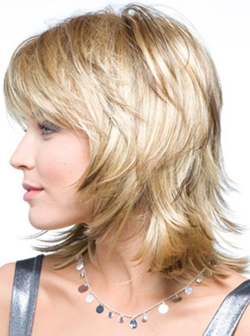 Medium Layered Hairstyle: Straight Hair – Popular Haircuts Regarding Most Popular Straight, Sleek, And Layered Hairstyles For Medium Hair (View 9 of 25)