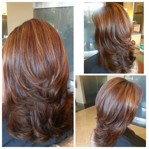 Medium Length Hair Cut With Layers, Blown Out With Big Round Brush Inside Current Medium Haircuts With Fiery Ombre Layers (View 22 of 25)