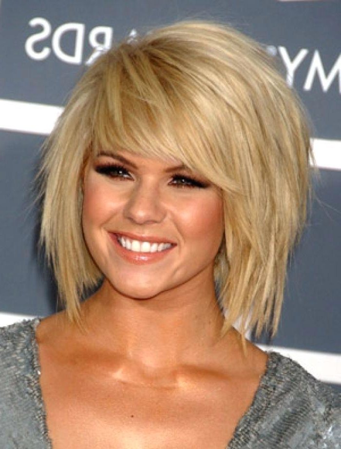 Medium Length Haircuts With Side Bangs Choppy Layered And Side Bangs With Regard To Newest Mid Length Haircuts With Side Layers (View 16 of 25)