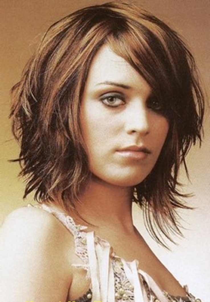 Medium Length Layered Bob Medium Layered Haircuts Thick Hair Best With Most Current Medium Feathered Haircuts For Thick Hair (View 23 of 25)