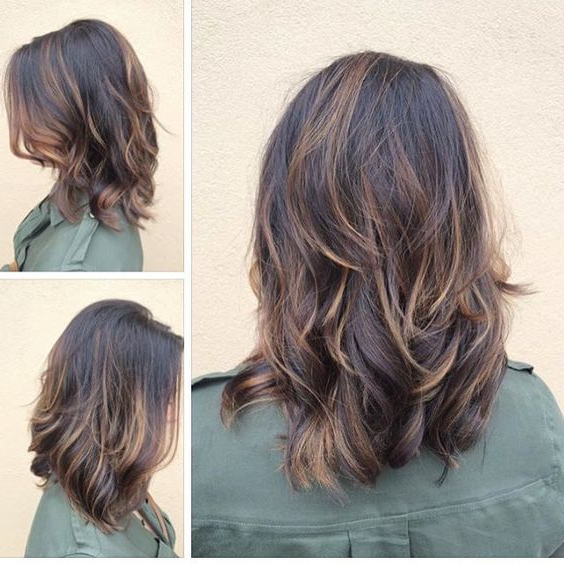 Medium Length Layered Hairstyles | Medium Hairstyles For Women Regarding Most Recently Medium Haircuts With Fiery Ombre Layers (View 10 of 25)