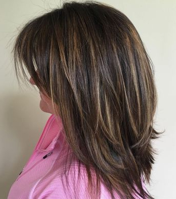 Mid Length Layered Hairstyle With Flicks In Recent Medium Hairstyles With Perky Feathery Layers (View 23 of 25)