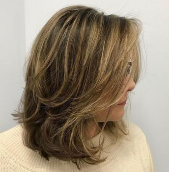 Mid Length Layered Hairstyle With Flicks Intended For Best And Newest Medium Hairstyles With Perky Feathery Layers (View 12 of 25)
