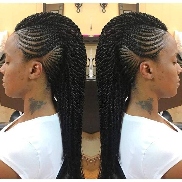 Mohawk Braid Hairstyles, Black Braided Mohawk Hairstyles With Regard To Small Braids Mohawk Hairstyles (View 4 of 25)