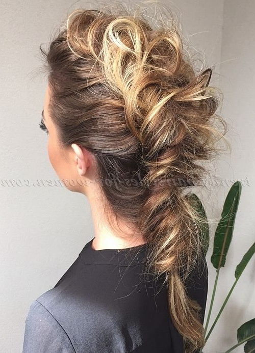 Mohawk Braid | Long Hairstyles | Pinterest | Hair, Hair Romance And Within Messy Braided Faux Hawk Hairstyles (View 6 of 25)