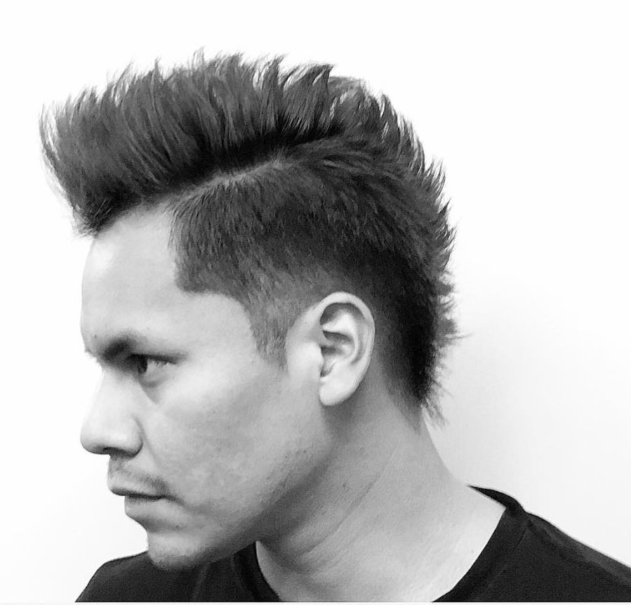 Mohawk Fade Haircuts For Long Platinum Mohawk Hairstyles With Faded Sides (View 24 of 25)