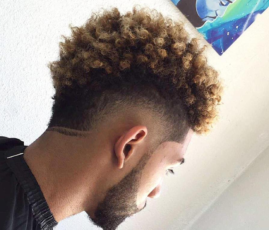Mohawk Haircut: 15 Curly, Short, Long Mohawk Hairstyles For Men Throughout Curl–Accentuating Mohawk Hairstyles (View 15 of 25)