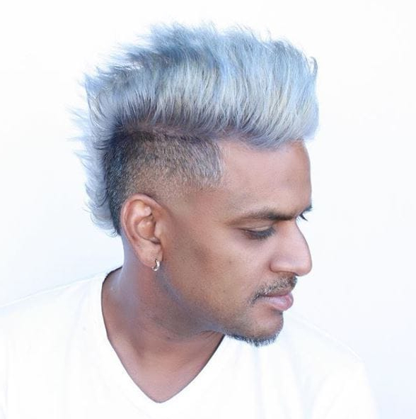 Mohawk Hairstyle For Men: 17 Cool Styles To Inspire Your Next Look Within Silvery White Mohawk Hairstyles (View 11 of 25)