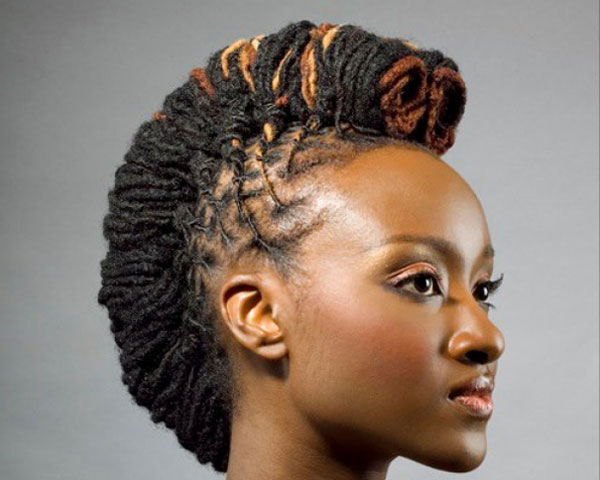 Mohawk Hairstyles For Black Women – 22 Cool Collections | Design Press With Regard To Mohawk Hairstyles With Multiple Braids (View 9 of 25)